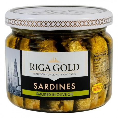 Sprats fumés de Riga 270gr à l' huile végétale