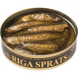 Sprats fumés de Riga  120gr à l' huile végétale