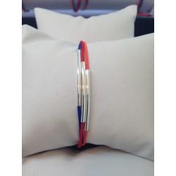 Bracelet tube argent aux couleurs de l'Arménie