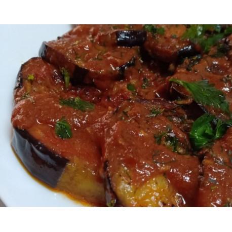 aubergines frites à la sauce tomate - prêt à servir - 380 gr