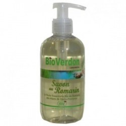 savon liquide bio aux huiles essentielles de romarin certifie ecocert 250 ml pompe