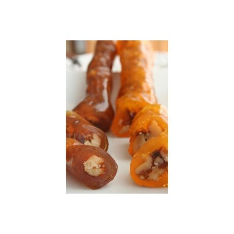 soudjouk aux noix / raisin - sucuk noix - environ 80 gr