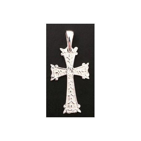pendentif croix armenienne en argent - khatchkhar argent largeur 14 mm x hauteur 30 mm (bélière comprise)