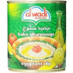 baba ghannouge - bababa ghanoush - caviar d'aubergines - alwadi poids net : 820gr -