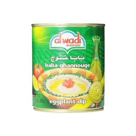 baba ghannouge - bababa ghanoush - caviar d'aubergines - alwadi poids net : 365gr -