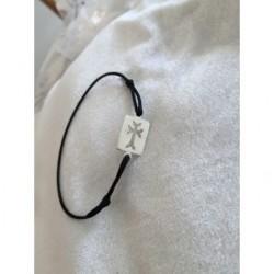 bracelet medaille argent croix armenienne - square khatchkar