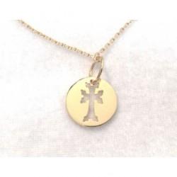 medaillon plaque or croix armenienne khatchkar decoupee