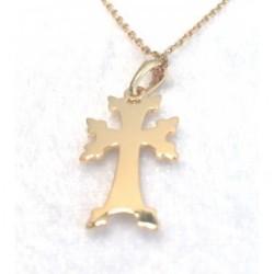 pendentif plaque or croix armenienne khatchkar moderne