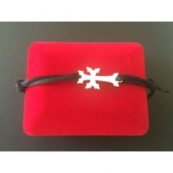 bracelet argent croix armenienne - modern khatchkar