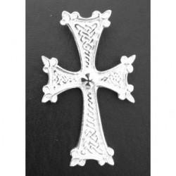 grand pendentif croix armenienne en argent - khatchkar largeur environ 22 mm x hauteur 32mm (bélière comprise)