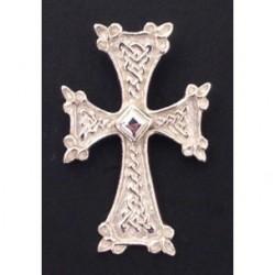 pendentif croix armenienne en argent (coeur losange) khatchkar largeur environ 18 mm x hauteur 28 mm (bélière comprise)