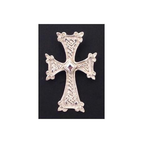 pendentif croix armenienne en argent - khatchkar largeur 18 mm x hauteur 28 mm (bélière comprise)