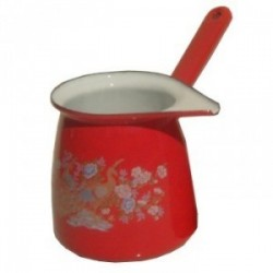 cafetiere orientale emaillee rouge - 4/5 tasses