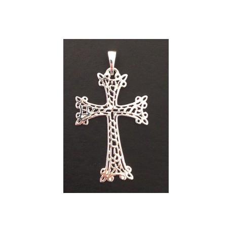 pendentif croix armenienne en or - khatchkar or cisele