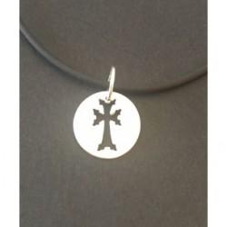medaillon argent croix armenienne khatchkar decoupee