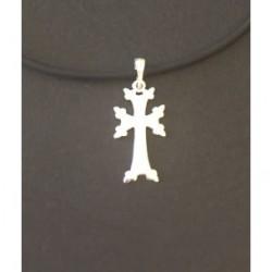 pendentif croix armenienne en argent - khatchkar moderne