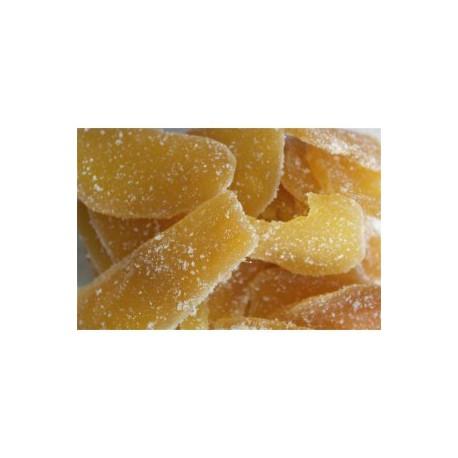 gingembre confit en petales - sac de 500 gr