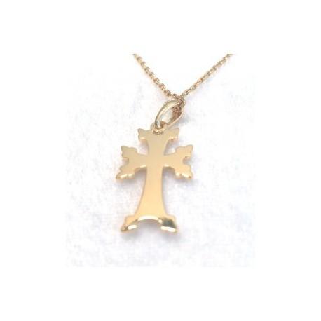 pendentif or croix armenienne khatchkar moderne