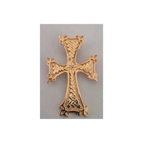 pendentif croix armenienne en or - khatchkar largeur 18 mm x hauteur 28 mm (bélière comprise)